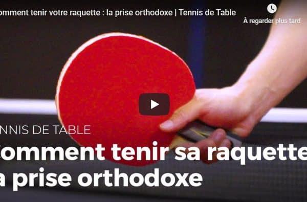 Comment tenir une raquette de tennis de table ?